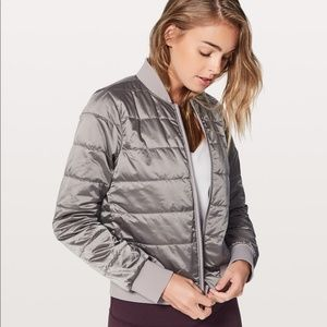 Lululemon Chrome Non Stop Bomber Reversible Jacket